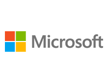 Logo der Firma Microsoft Corporation.